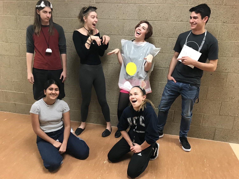 The Hawk Newspaper crew model DIY Halloween costumes.