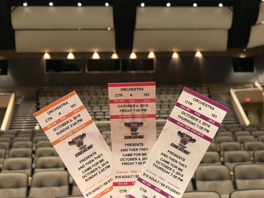 Tickets for the upcoming fall play