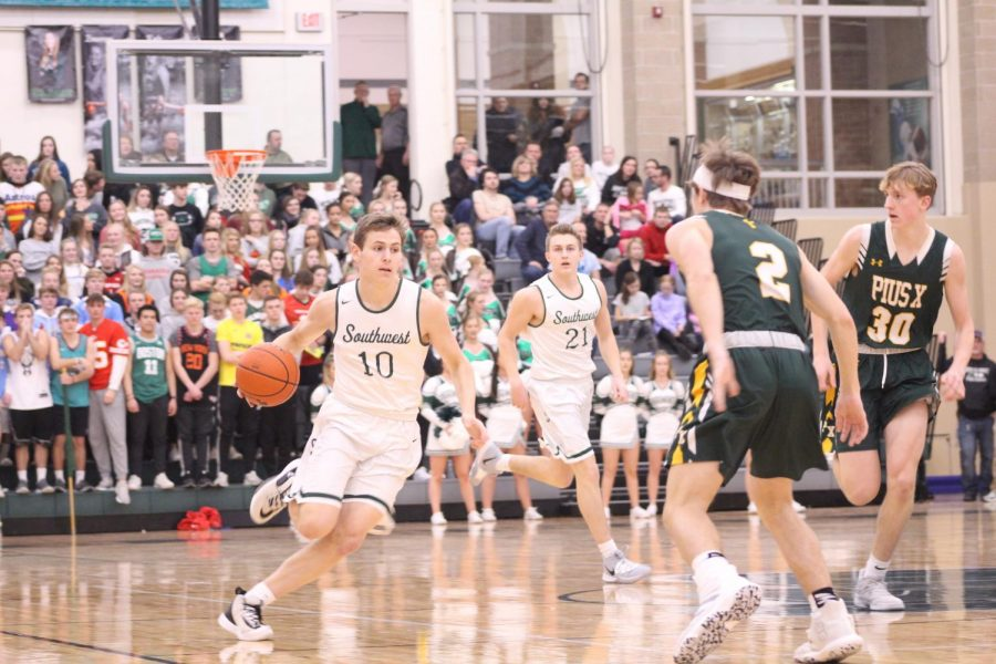 LSW boys varsity basketball lost to Pius X 47-56 on Fri. January, 10, 2020. The Hawks now look forward to a match up with Grand Island on Sat. January, 11, 2020 at 5:15 from Lincoln Southwest High School.