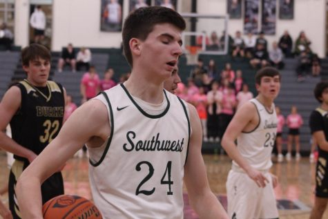 LSW Hoops lost to Lincoln East in the final seconds Friday, February 14, 57-56 due to a shot that fell for the Spartans in the final seconds.