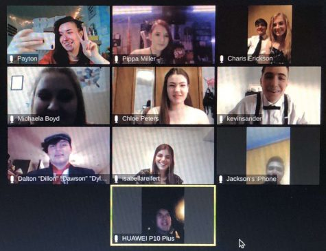 "Lincoln Southwest students gather over Zoom for a ""Virtual Prom,"" otherwise known as ""Proom."""