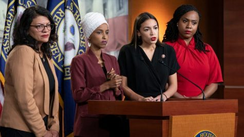 Minorities take big steps towards equality in Congress. Picture from USAToday featuring Representatives Rashida Tlaib, Ilhan Omar, Alexandria Ocasio-Cortez, and Ayanna Pressley.
