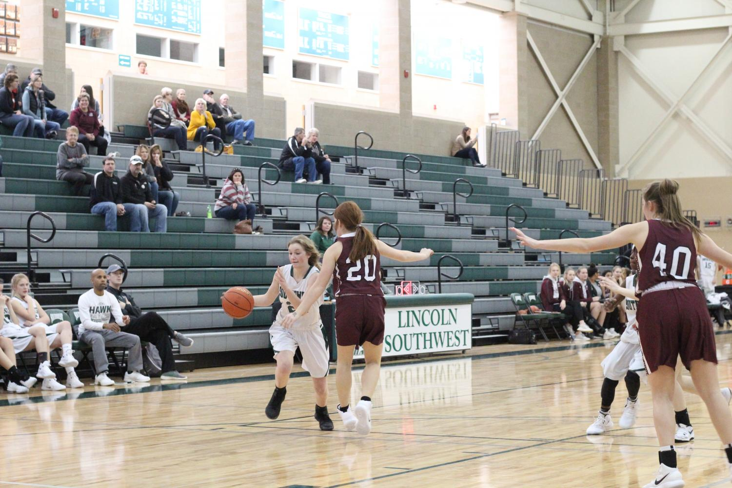 Freshmen girls basketball lost to Norfolk 45-30 this past weekend.