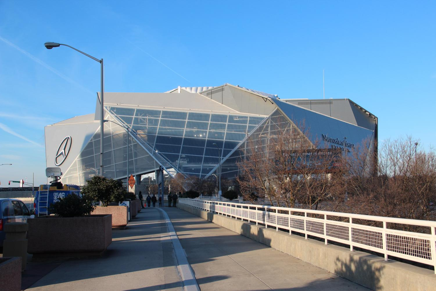 The Super Bowl will be played at Mercedes-Benz Stadium in Atlanta. The game will be played at 5:30 p.m. on CBS.