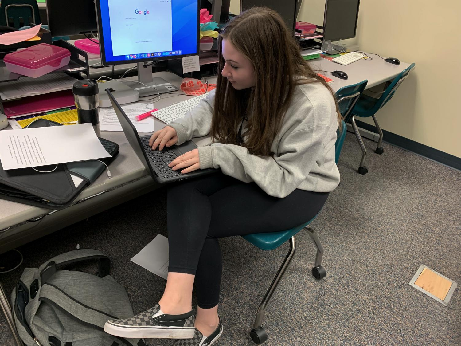 Freshmen received new Chromebooks this Tuesday. The exchange was due to a manufacturing defect.