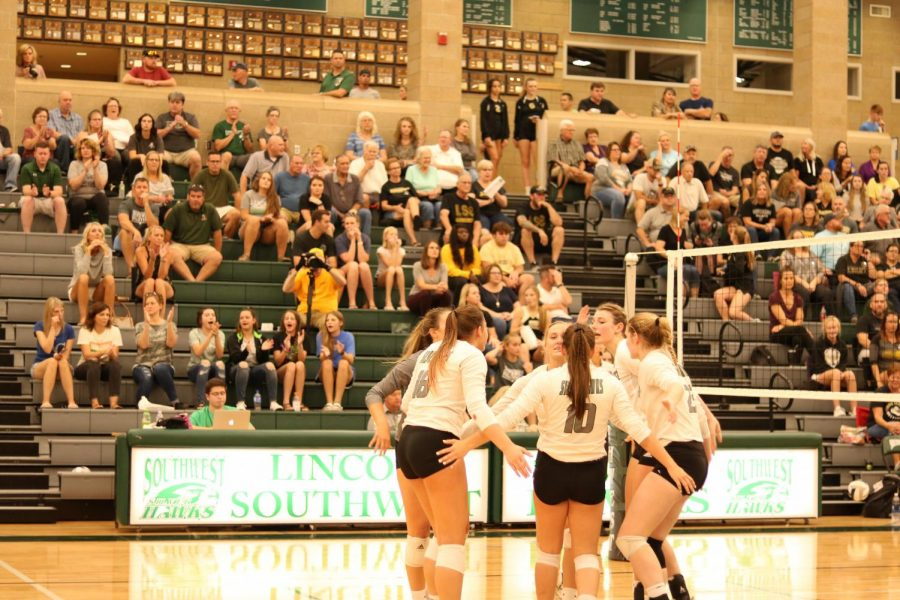 The Lincoln Southwest varsity volleyball team swept Lincoln Southeast 3-0.