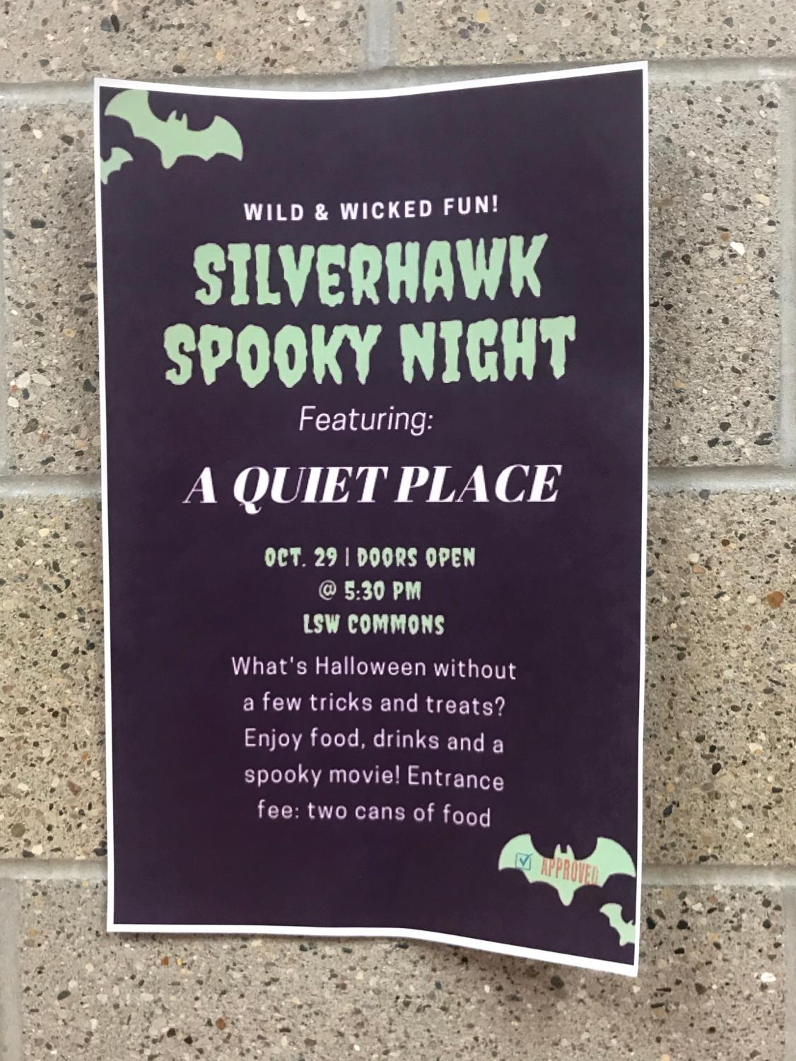 Silver Hawk spooky night is set to take place on Tuesday, Oct. 29th.
