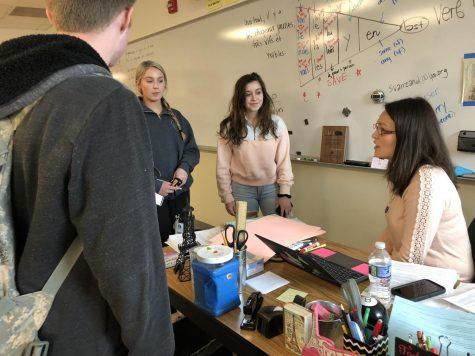 French teacher Sasha Van Zandt won the state best language teacher award by NILA. Each year the board picks the best teacher for each language: French, Spanish and German.