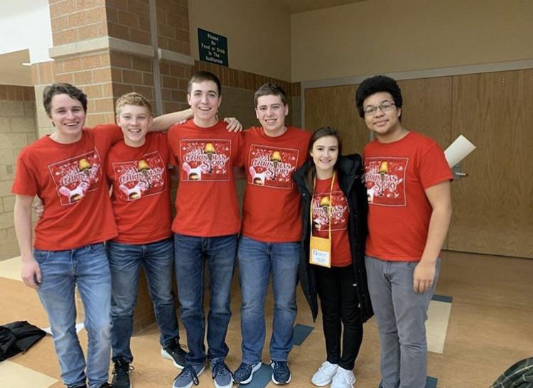 The members of the Improv Team took third place at the Nebraska State Thespian Festival.  L to R: Jordan Lockert, Dillon Richert, Dominic Sander, Dawson Reynolds, Aubrey Aldag, Kael Frank