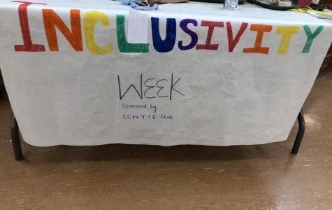 The LSW TIE Club hosted Inclusivity Week Jan 21-24. Everyday there was a table set up in the commons during lunch with information about different minority groups in Southwest.
