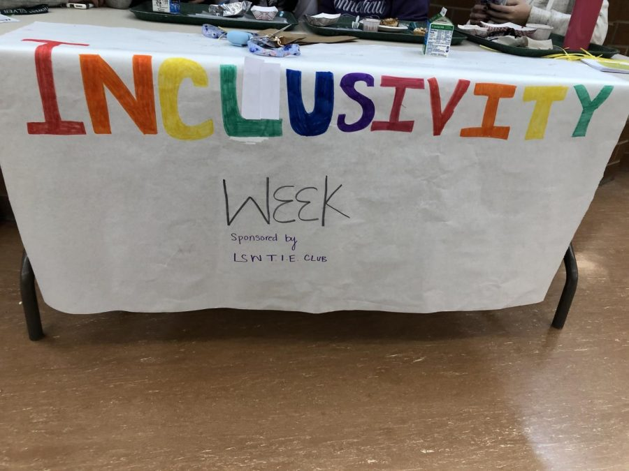 The+LSW+TIE+Club+hosted+Inclusivity+Week+Jan+21-24.+Everyday+there+was+a+table+set+up+in+the+commons+during+lunch+with+information+about+different+minority+groups+in+Southwest.