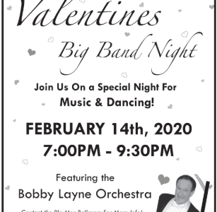 The Lincoln Southwest Jazz I band is opening for the Bobby Lane Orchestra on Friday, Feb. 14.