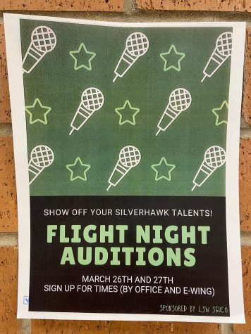 Flight Night auditions will be held March 26 and 27 in E-Wing. Sign-ups can be found in E-wing and the main office.
