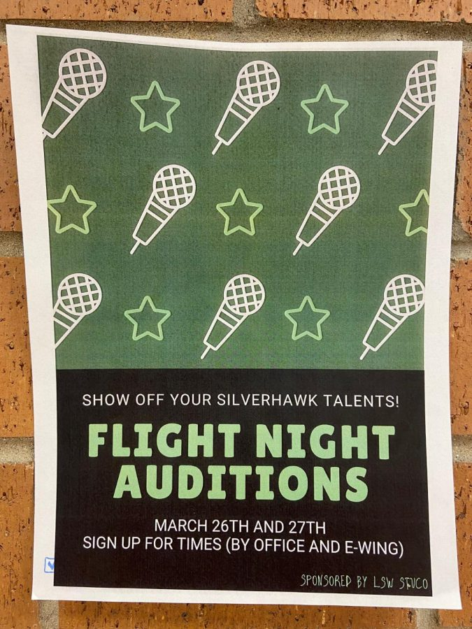 Flight+Night+auditions+will+be+held+March+26+and+27+in+E-Wing.+Sign-ups+can+be+found+in+E-wing+and+the+main+office.